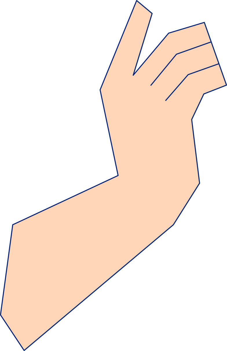 hand from girl with fan Clipart illustration in PNG, SVG