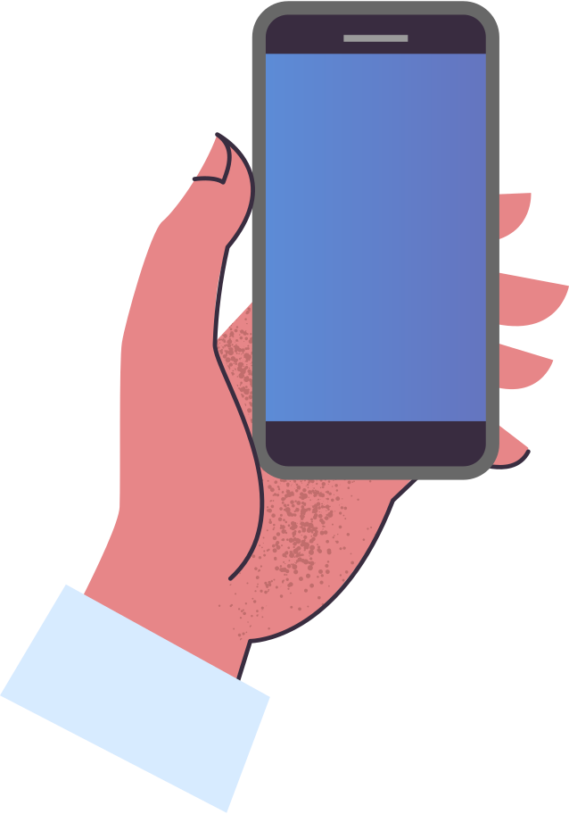 hand-with-phone Clipart illustration in PNG, SVG