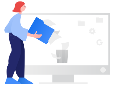 style Deleting files images in PNG and SVG | Icons8 Illustrations
