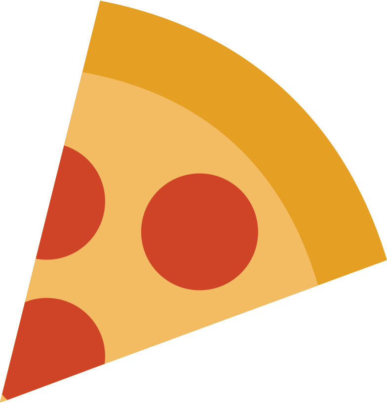 pizza slice Clipart illustration in PNG, SVG