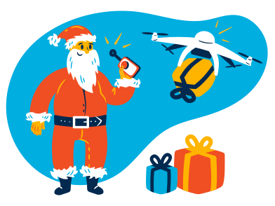 style Christmas delivery images in PNG and SVG | Icons8 Illustrations