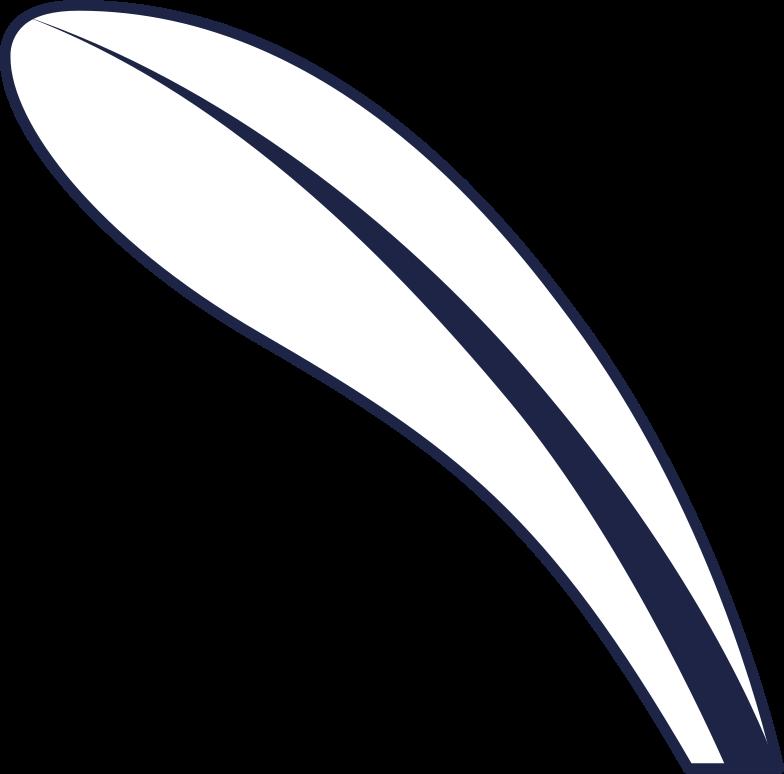 leaf 2 line Clipart illustration in PNG, SVG