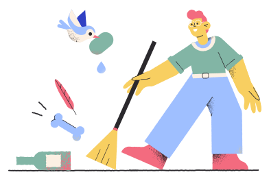 style Cleaning up images in PNG and SVG | Icons8 Illustrations