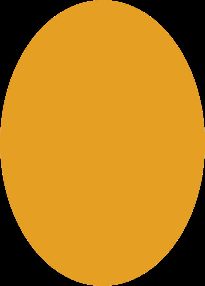 ellipse orange Clipart illustration in PNG, SVG