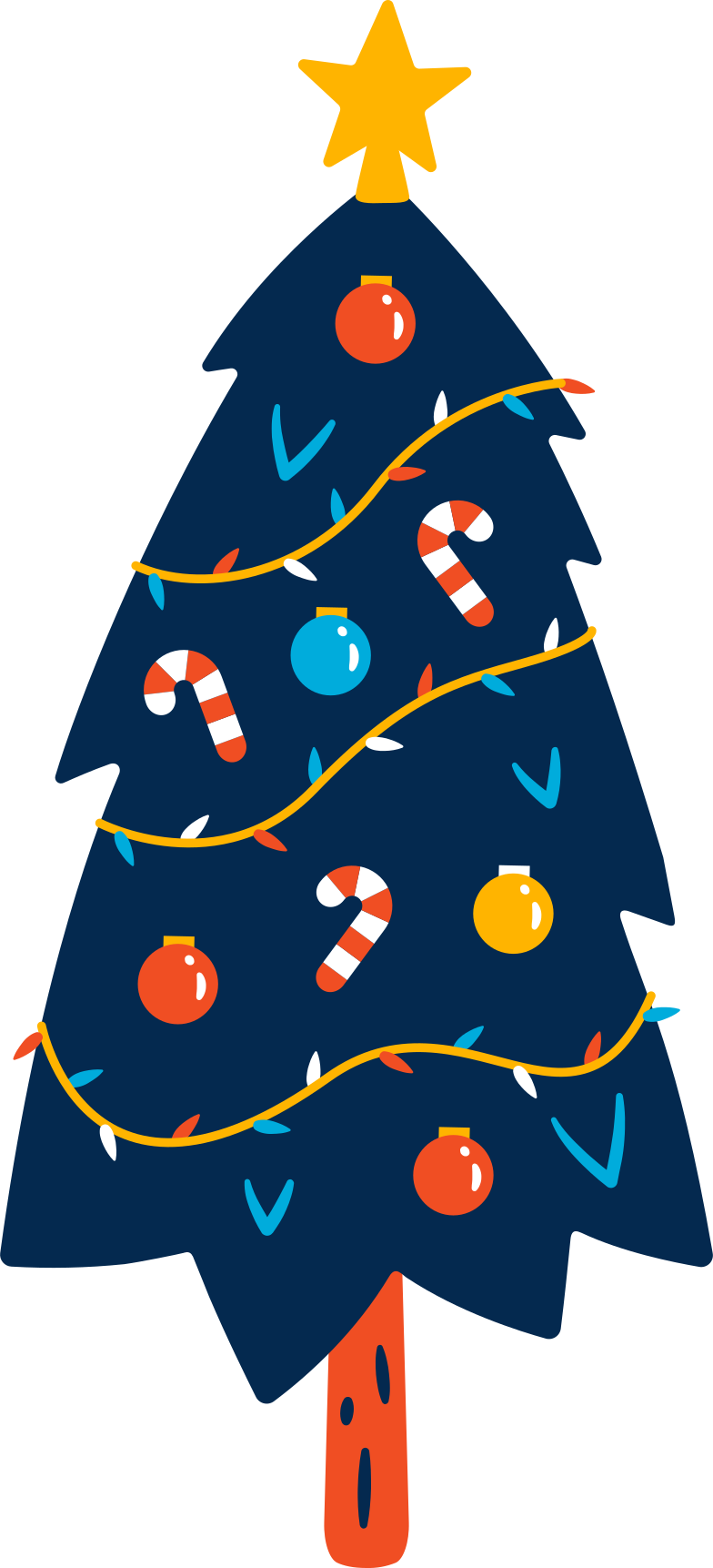 christmas-tree Clipart illustration in PNG, SVG