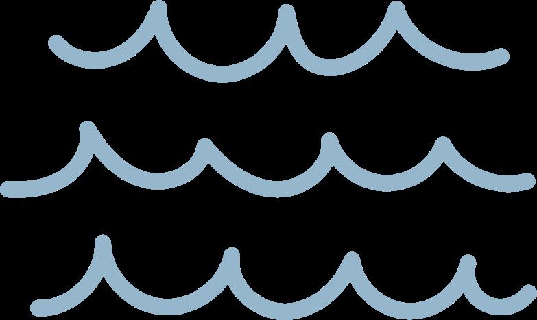 tk blue waves Clipart illustration in PNG, SVG