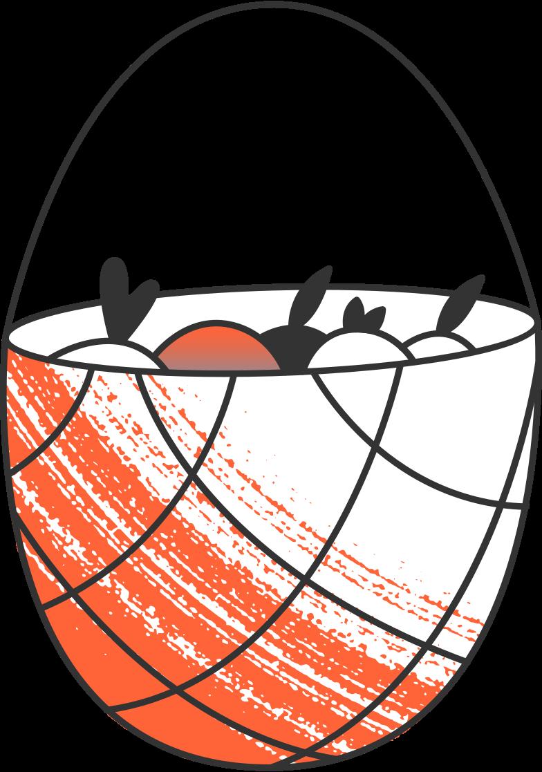 uploading  basket with fruits Clipart illustration in PNG, SVG