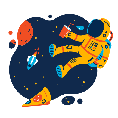 style Lunch in space images in PNG and SVG | Icons8 Illustrations