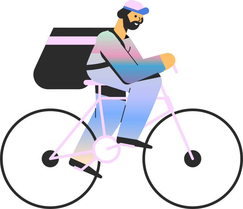 style man on bike Vector images in PNG and SVG | Icons8 Illustrations