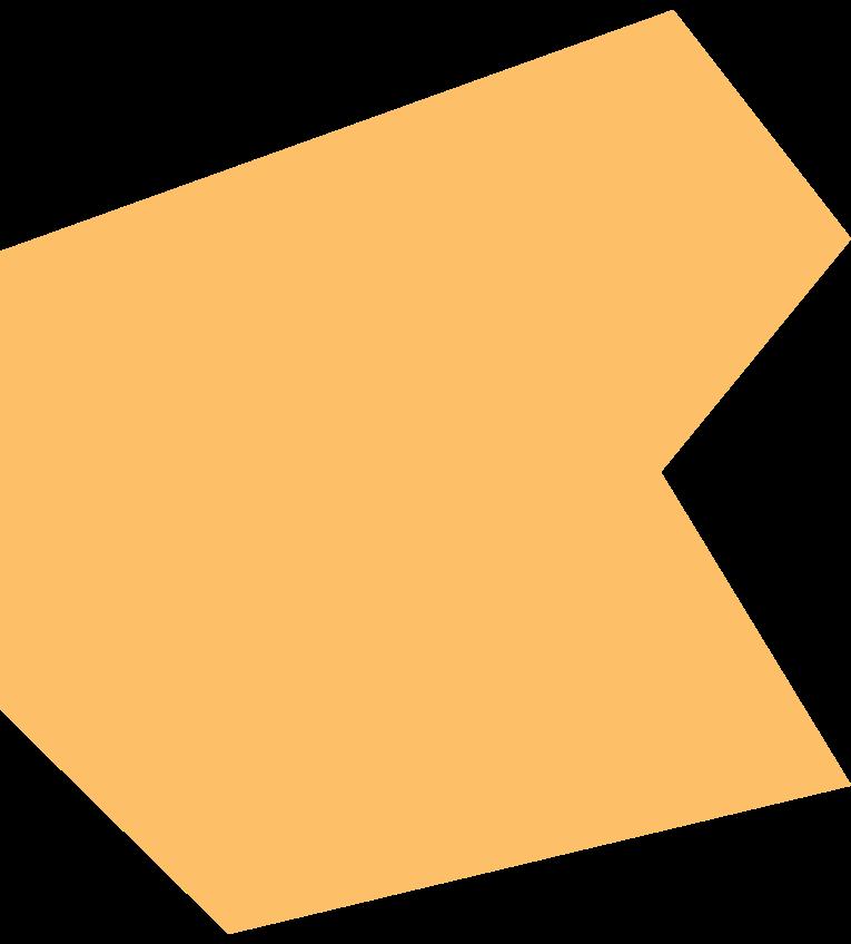polygon orange Clipart illustration in PNG, SVG