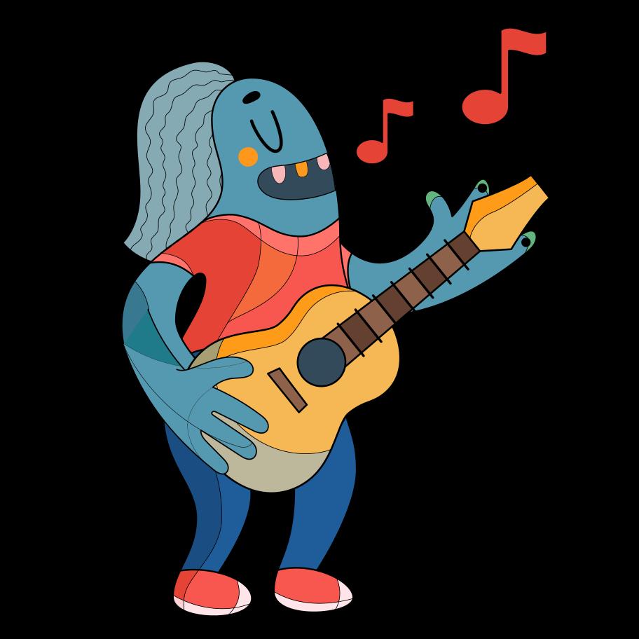 Music artist Clipart illustration in PNG, SVG
