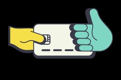 Иллюстрация платеж принят в стиле  в PNG и SVG | Icons8 Иллюстрации