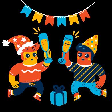 Иллюстрация пьяная вечеринка в стиле  в PNG и SVG | Icons8 Иллюстрации