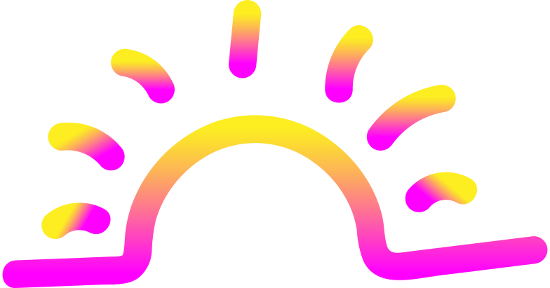 rg pink yellow sunset Clipart illustration in PNG, SVG