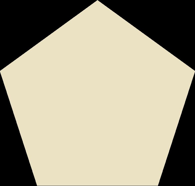 penagon beige Clipart illustration in PNG, SVG