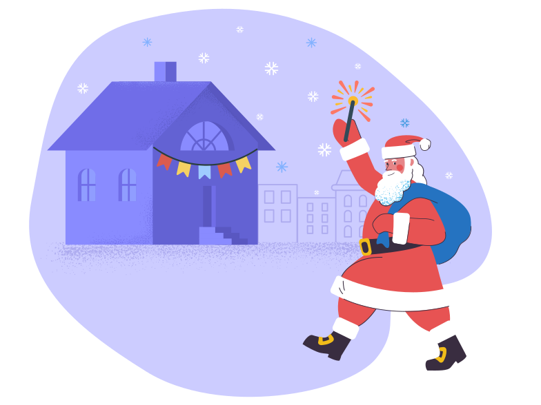 style Santa on Christmas eve  Vector images in PNG and SVG | Icons8 Illustrations