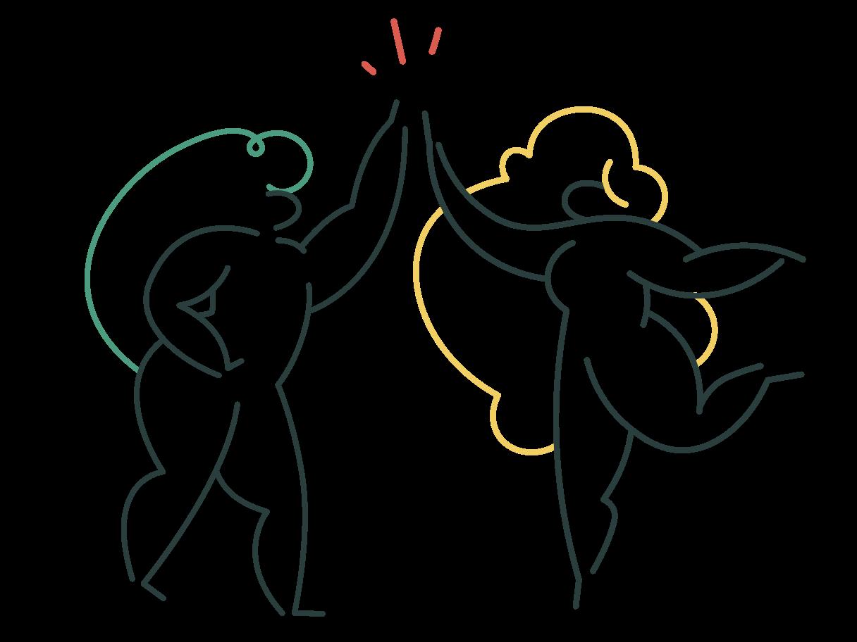 High five Clipart illustration in PNG, SVG
