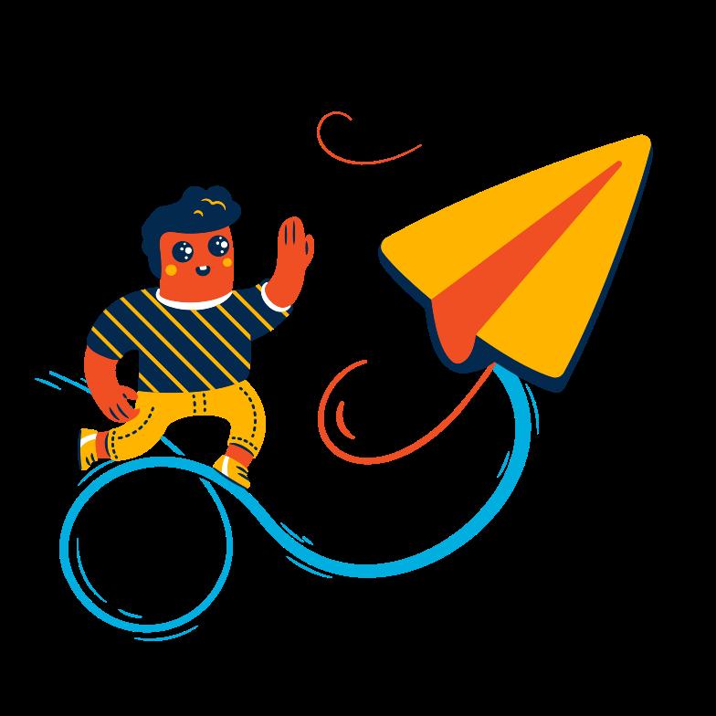 Sending message  Clipart illustration in PNG, SVG
