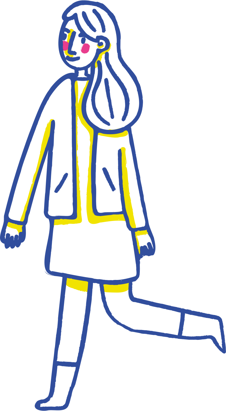 style walking girl Vector images in PNG and SVG | Icons8 Illustrations