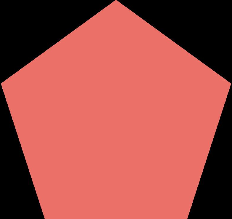 pentagon pink antique Clipart illustration in PNG, SVG