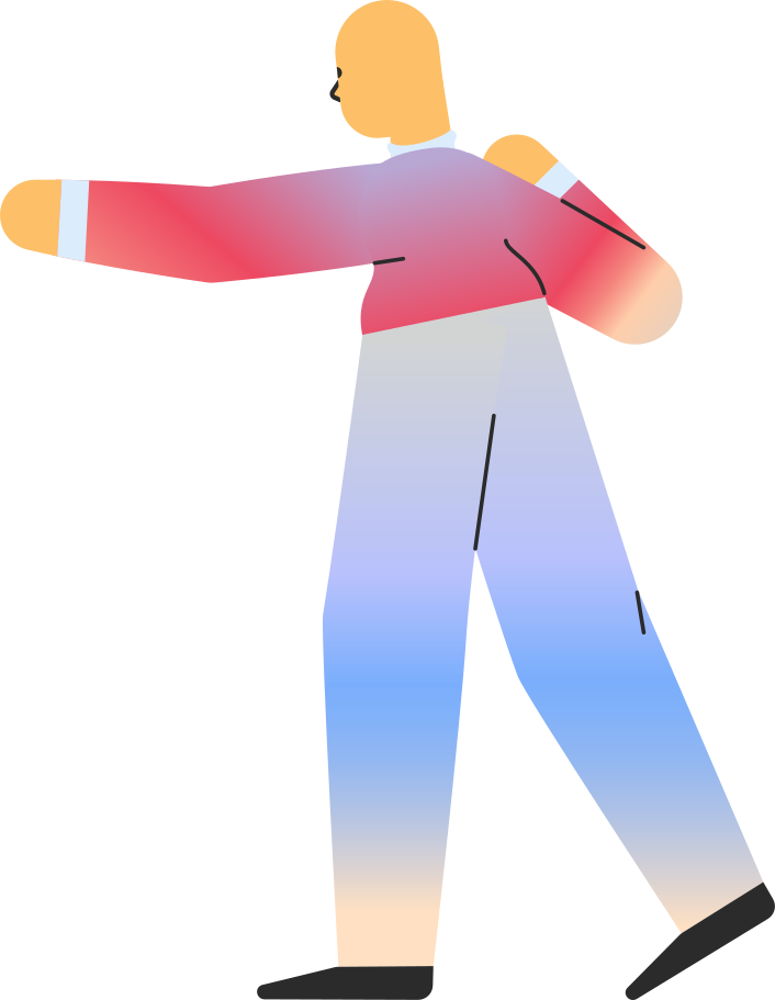 adult pointing back Clipart illustration in PNG, SVG
