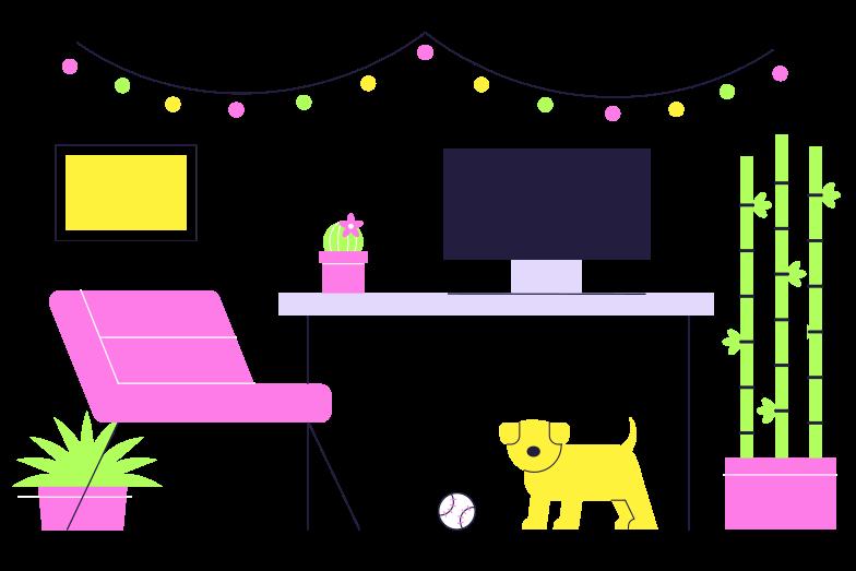 Rest at home Clipart illustration in PNG, SVG