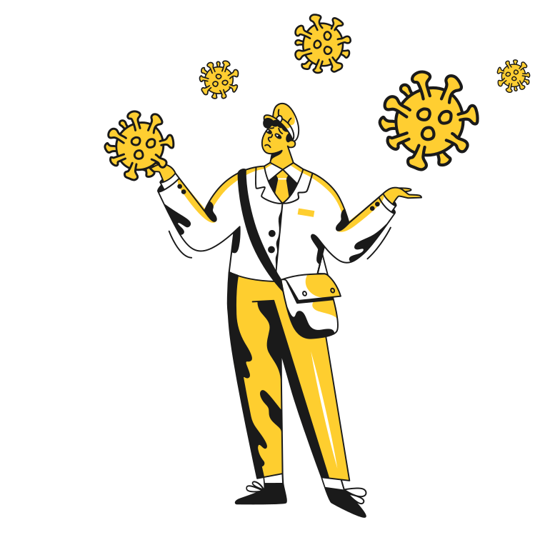 Сoronavirus and despair Clipart illustration in PNG, SVG