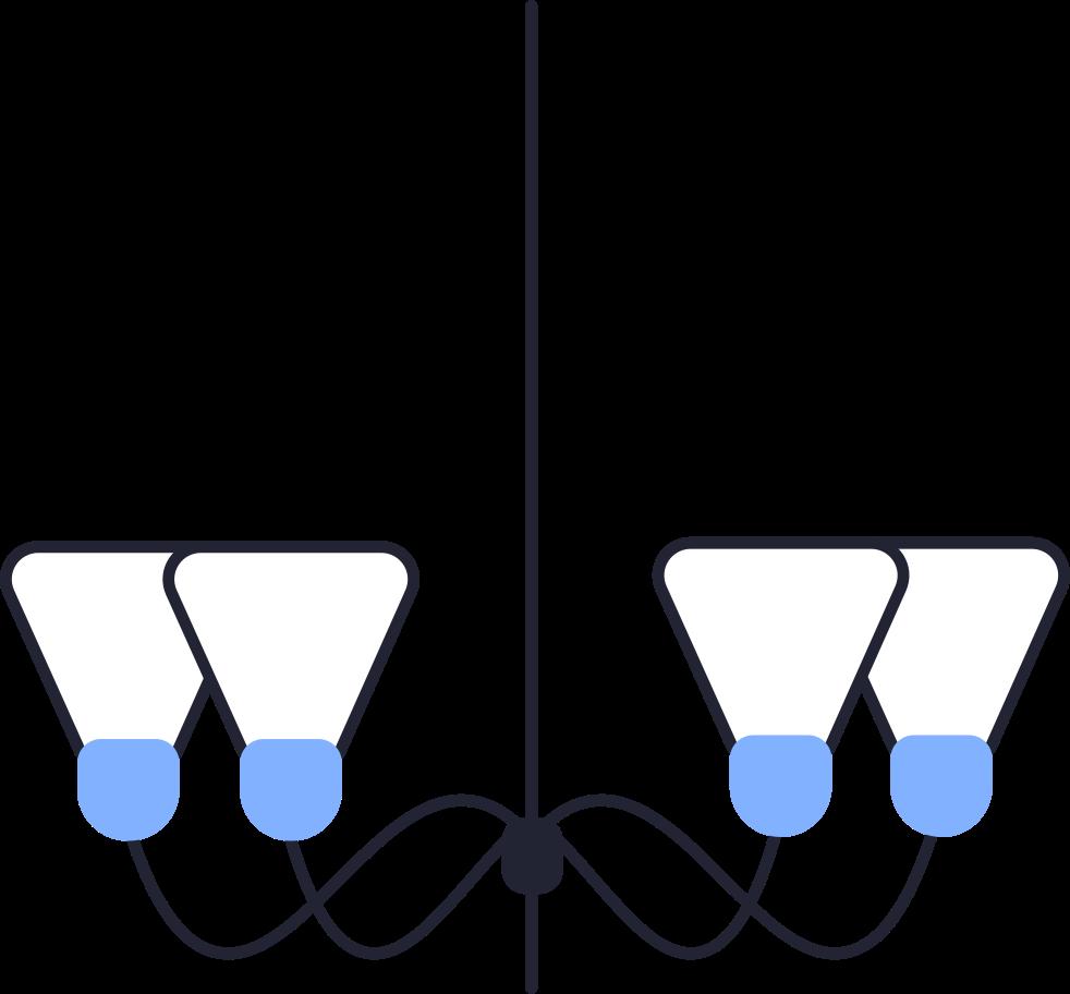 chandelier Clipart illustration in PNG, SVG