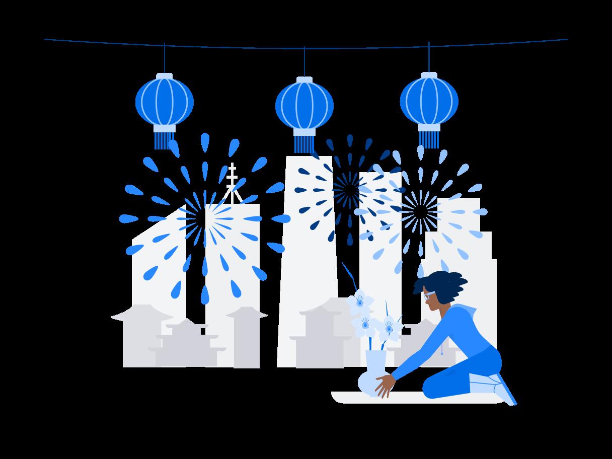 Chinesische neujahrsdekoration Clipart-Grafik als PNG, SVG