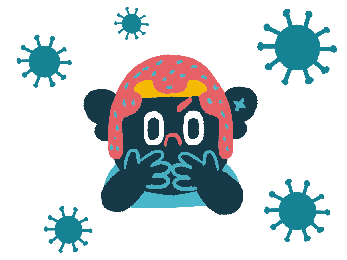 Too many viruses Clipart illustration in PNG, SVG