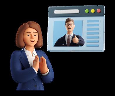 Иллюстрация Удаленная деловая встреча в стиле  в PNG и SVG | Icons8 Иллюстрации
