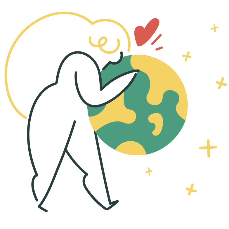 Embrace the world Clipart illustration in PNG, SVG