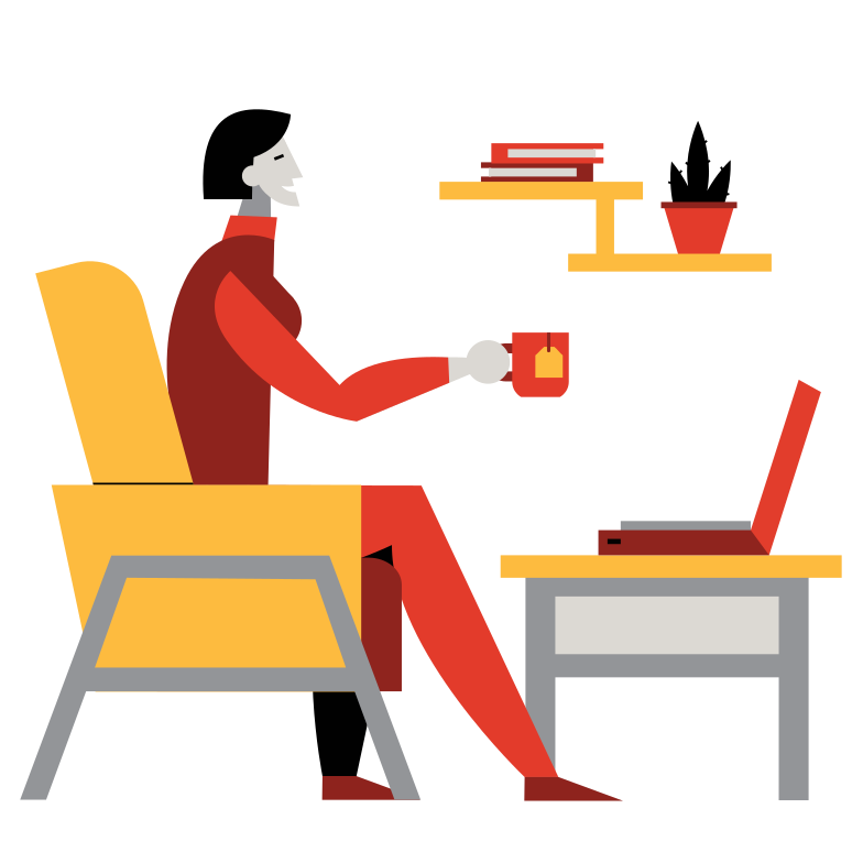 style Remote work Vector images in PNG and SVG | Icons8 Illustrations