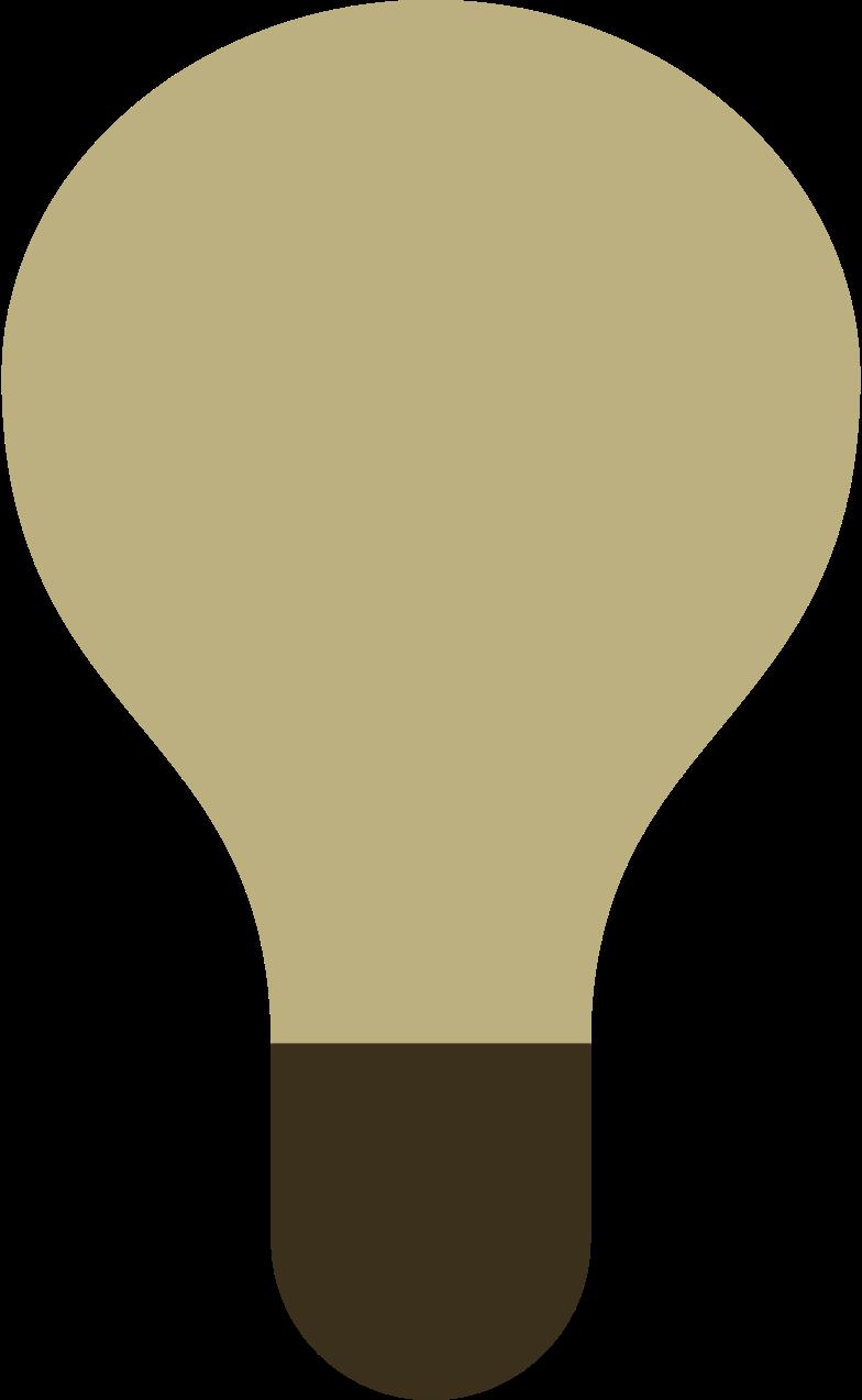 light bulb off Clipart illustration in PNG, SVG