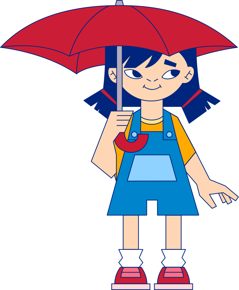style girl with an umbrella Vector images in PNG and SVG | Icons8 Illustrations