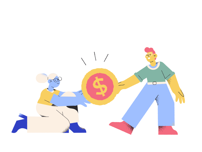 Fighting over money  Clipart illustration in PNG, SVG