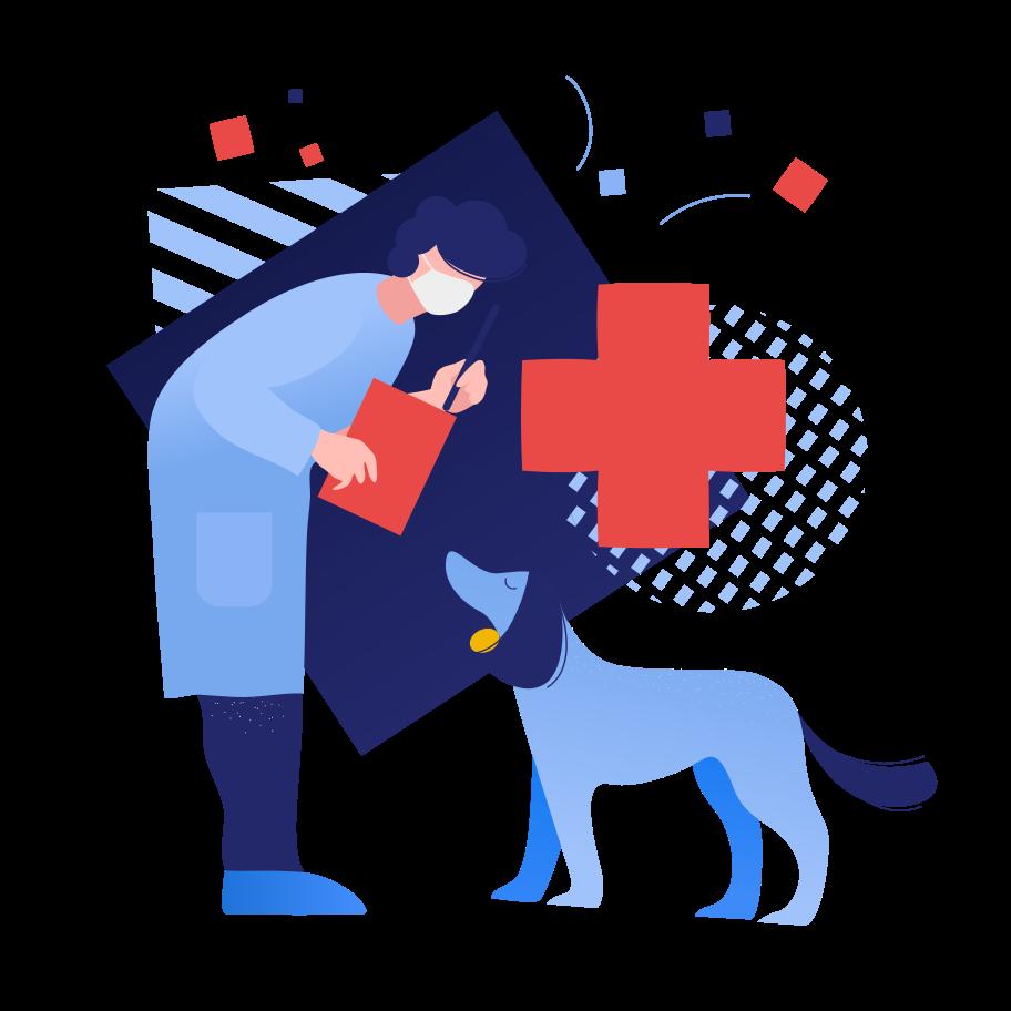 Animal hospital Clipart illustration in PNG, SVG