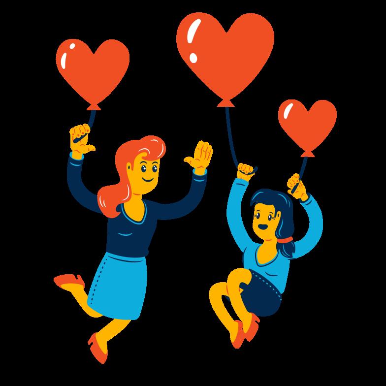 Liebe ist in der luft Clipart-Grafik als PNG, SVG