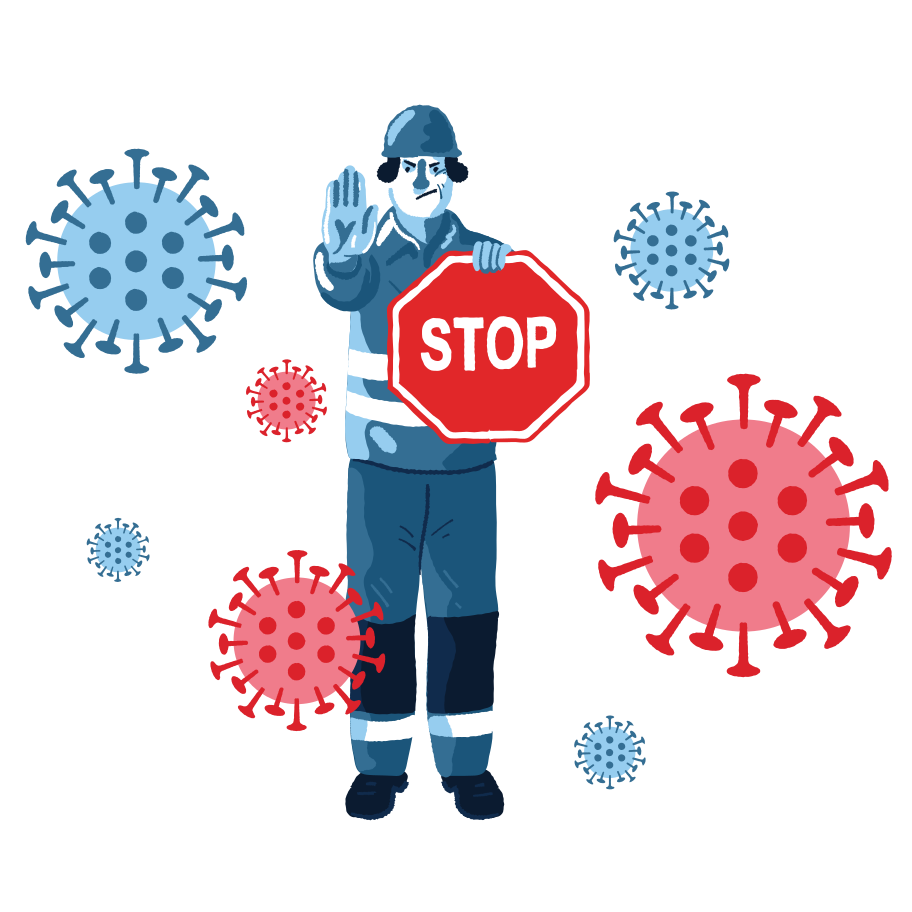 Stopping COVID-19 Clipart illustration in PNG, SVG
