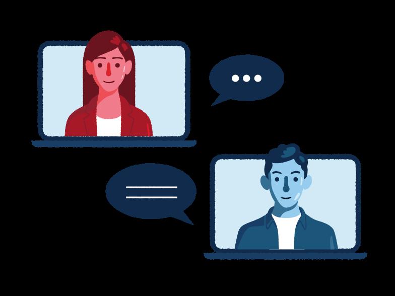 PNGとSVGの  スタイルの リモートミーティング ベクターイメージ | Icons8 イラスト