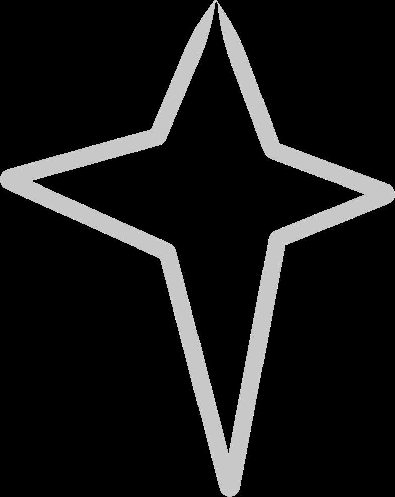 tk line silver star Clipart illustration in PNG, SVG