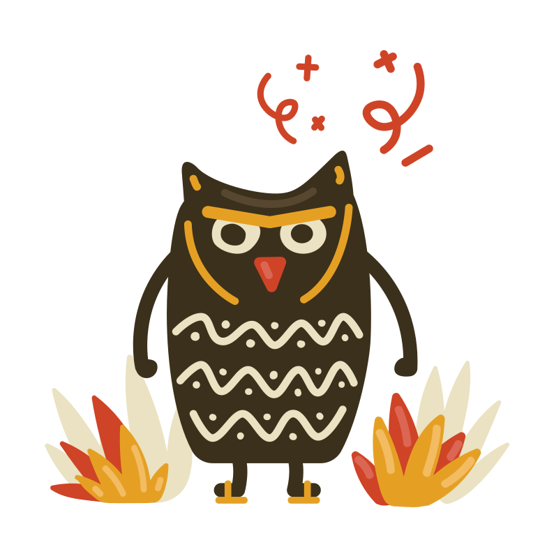 Angry owl Clipart illustration in PNG, SVG