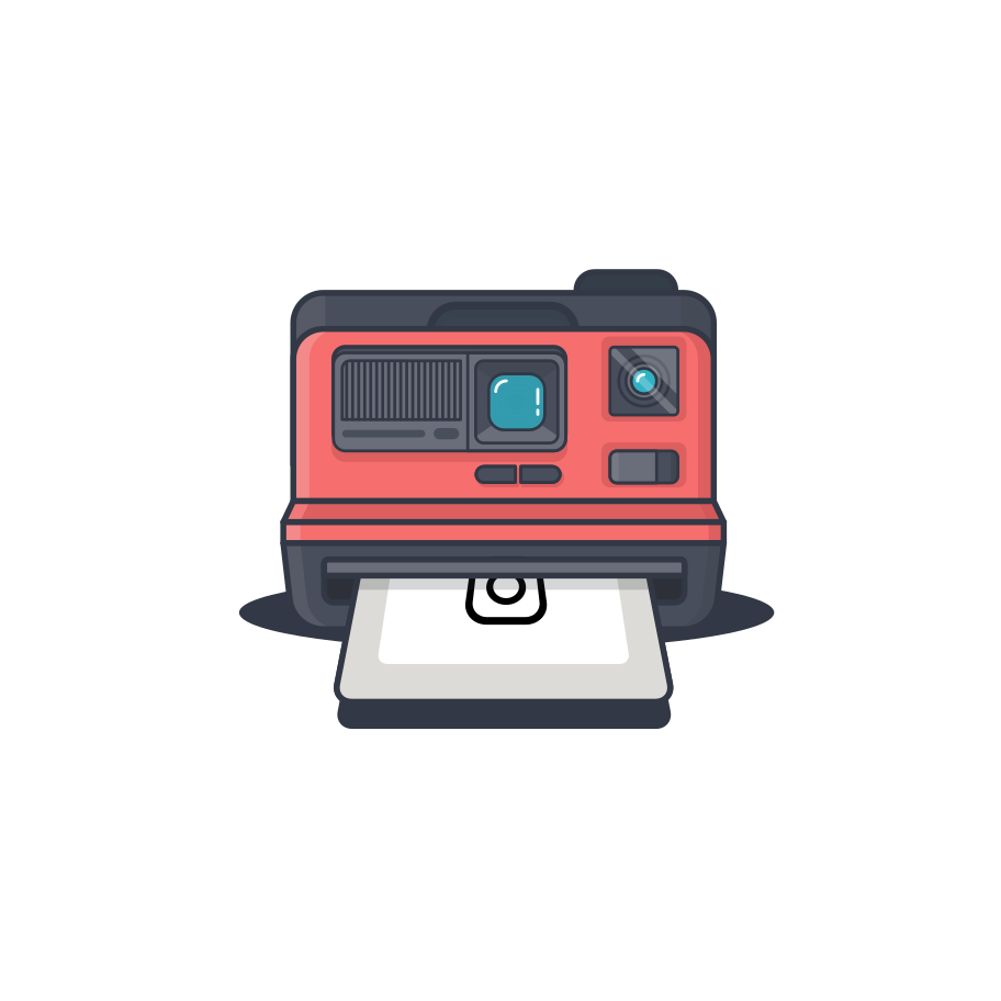 Polaroid Clipart illustration in PNG, SVG