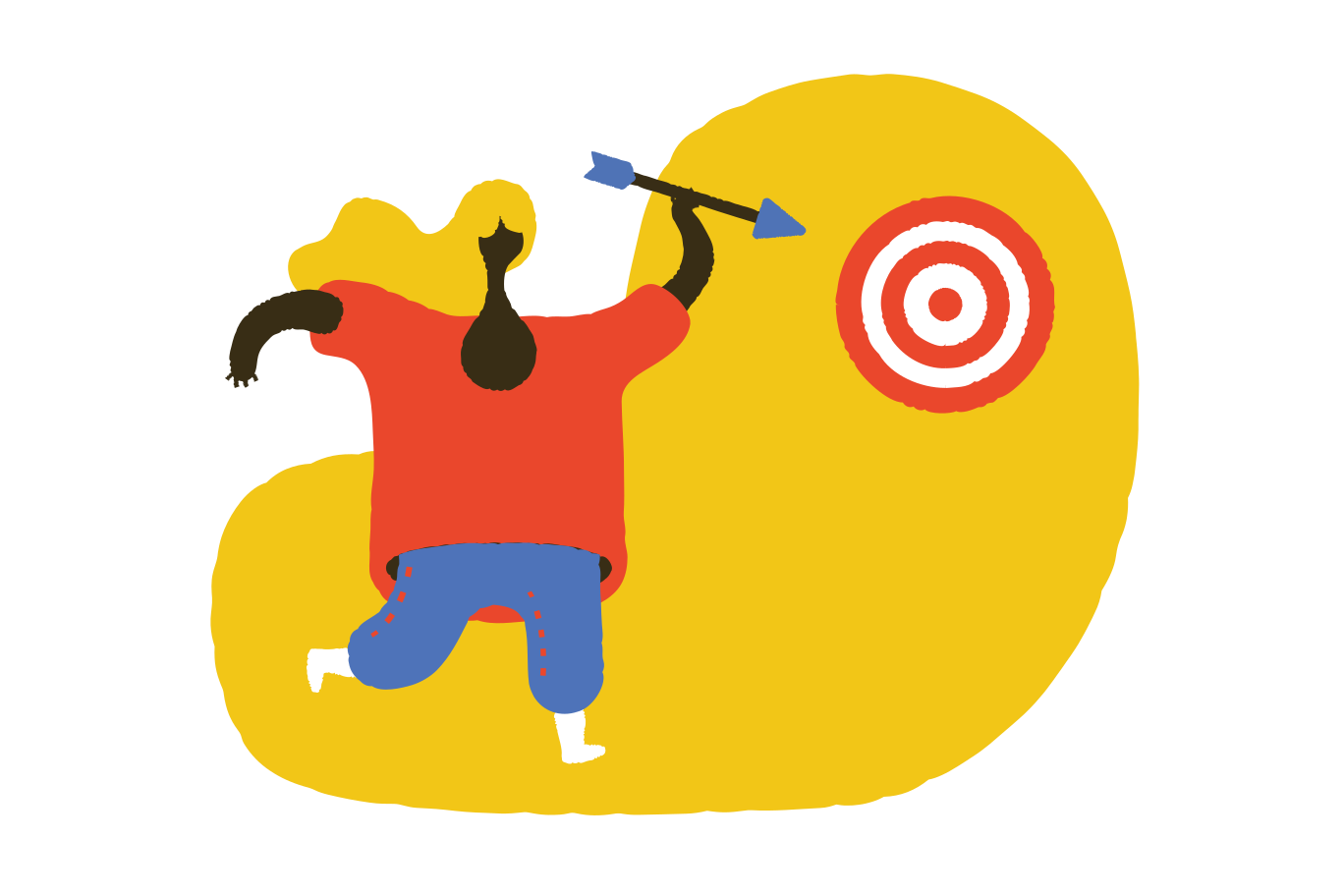 Reaching the goal Clipart illustration in PNG, SVG