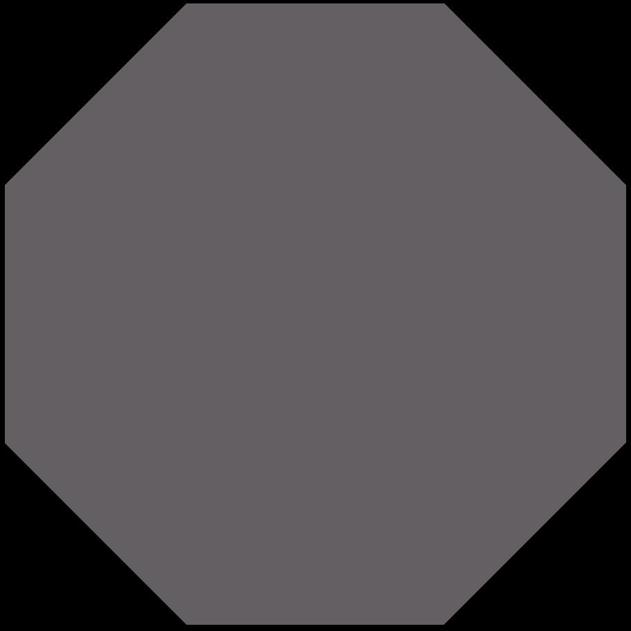 octagon grey Clipart illustration in PNG, SVG