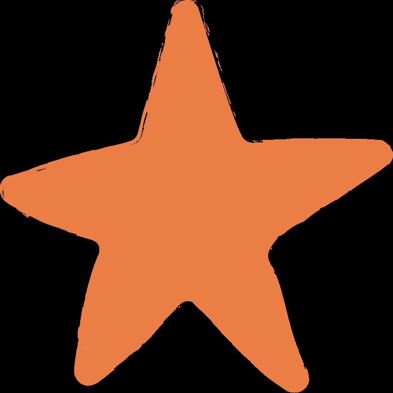 star-orange Clipart illustration in PNG, SVG