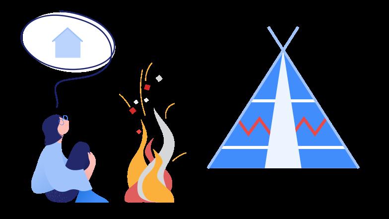 Imágenes vectoriales pensando en casa en PNG y SVG estilo  | Ilustraciones Icons8