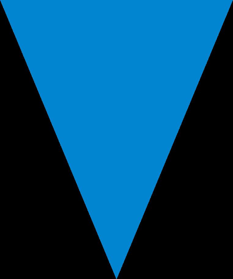 Ilustración de clipart de Triángulo azul en PNG, SVG