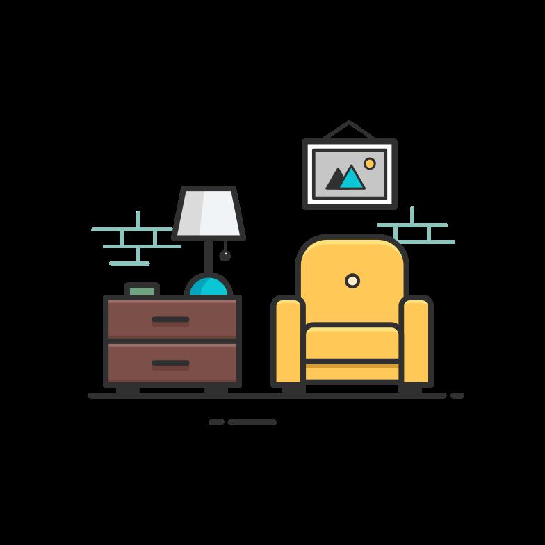 Living room Clipart illustration in PNG, SVG