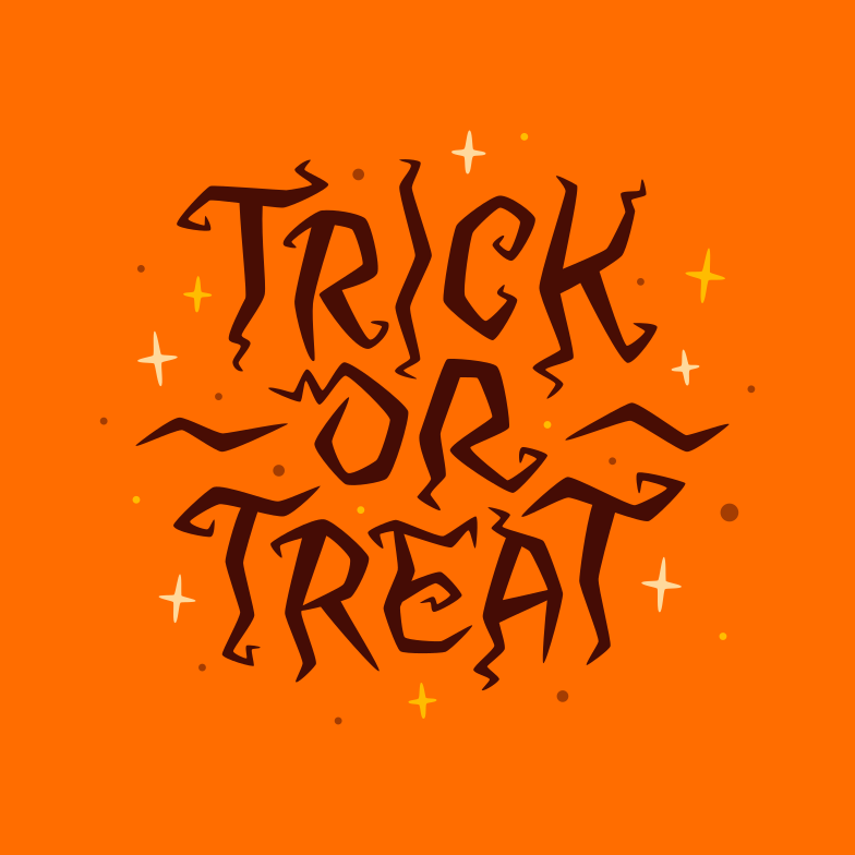 trick or treat witch orange Clipart illustration in PNG, SVG